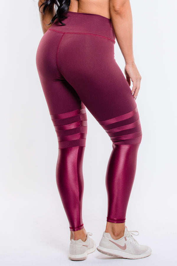Burgundy Collegiate Hi-Rise Legging