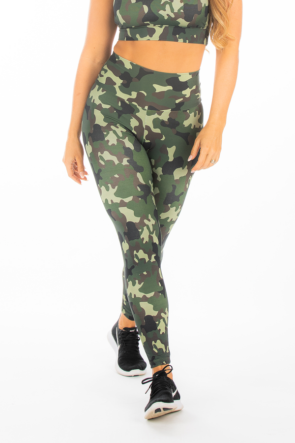 Army Green Camo Hi-Rise Legging
