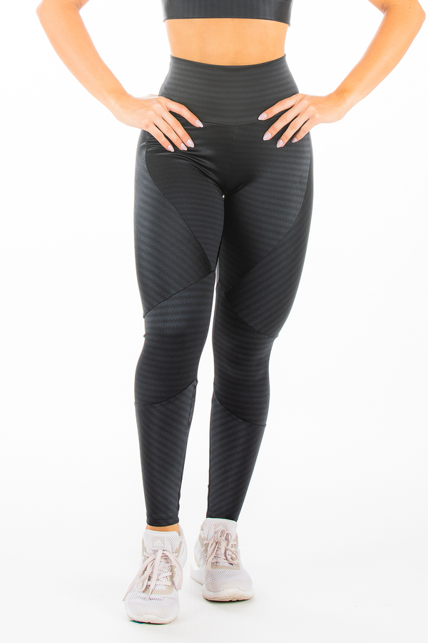 Black Striped Hi-Rise Legging