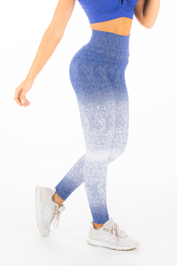 Blue & White Ombre Hi-Rise Legging