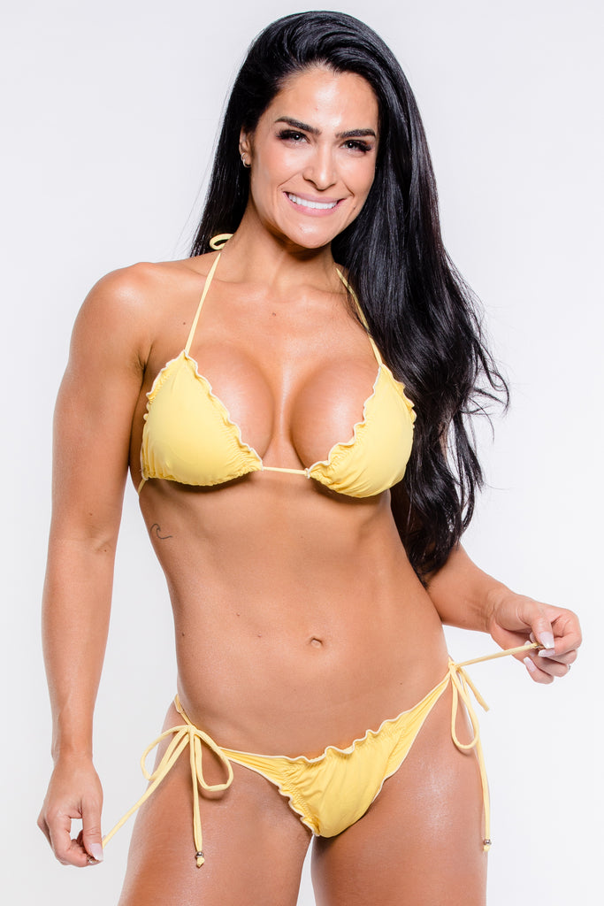 Yellow Wet Magic Brazilian Bikini