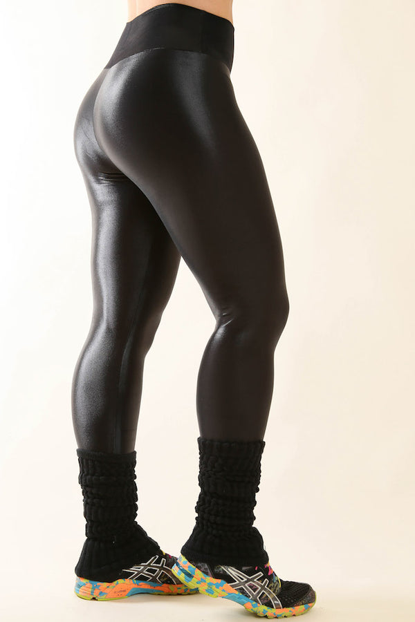 Black Faux Leather Hi-Rise Legging