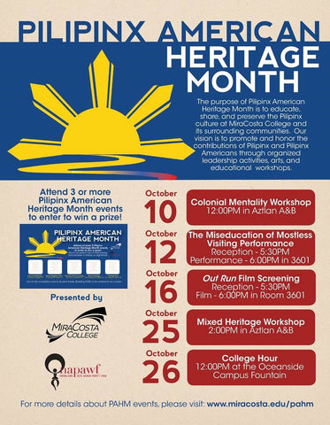 MiraCosta College Pilipinx American Heritage Month