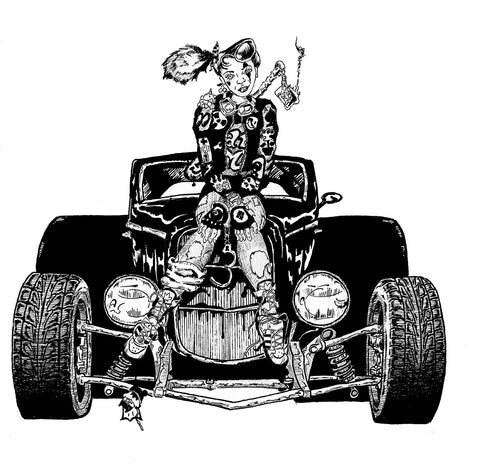 Illustration: Hot Rod and Woman