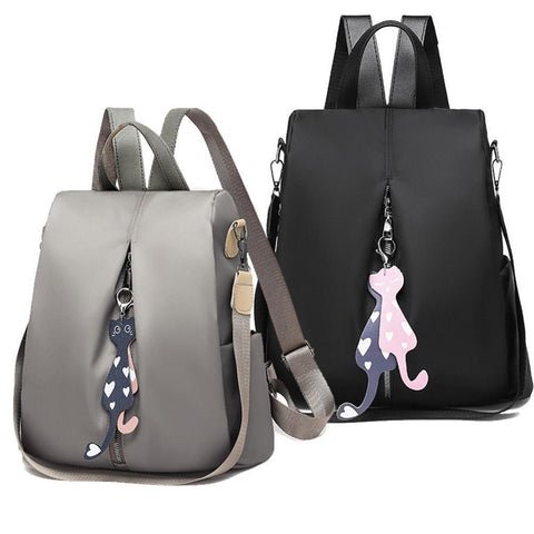 'Two Kittens' Oxford Backpack Backpack XOhalo