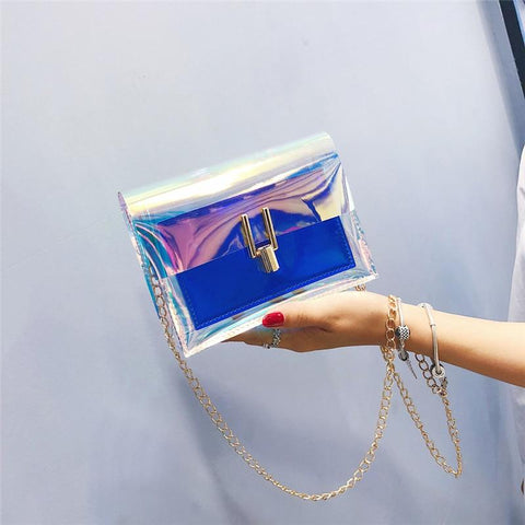 'Electric Laser' Transparent Tote Handbag XOhalo