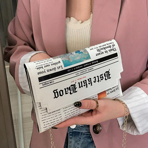 The 'Newspaper Clutch' Clutch XOhalo