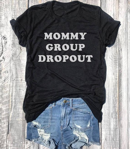 'Mommy Group Dropout' Lightweight Tee Shirt XOhalo