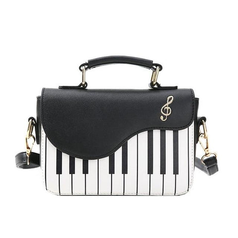 'Keys' Piano Handbag Purse XOhalo Black