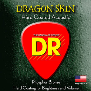 DR Strings Dragon Skin Clear Coated Acoustic Bluegrass Guitar Strings