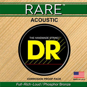 DR Strings RARE Phosphor Bronze Acoustic Guitar Strings