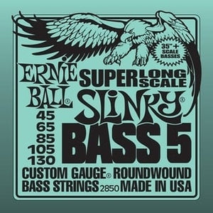 Ernie Ball Super-Long Scale Slinky Electric Bass Guitar Strings - 5-String