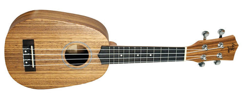 Eddy Finn Pineapple Ukulele (Zebra Wood and Mahogany) (EF-PNAPL)