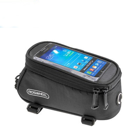 "Bicycle Bag Front Frame Tube Bag MTB Road Bike Bag PVC Touchscreen Phone Case For 5.5"" Cellphone Pouches #E0"