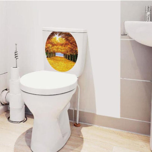 Super Deal Hot Sale Toilet Seat Sticker Decals Vinyl Art Removable Decor XT