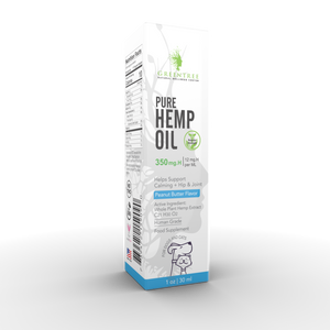 GreenTree Natuals Whole Plant Hemp Pet Tincture Drops - Three Strengths