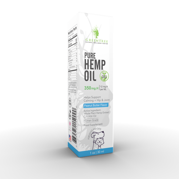 GreenTree Natuals Whole Plant Hemp Pet Tincture Drops - Three Strengths - GreenTree Natural Wellness Center