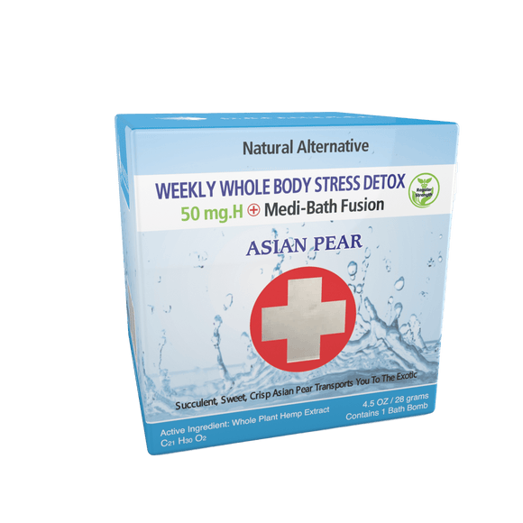 Medi-Bath Fusion Weekly Stress Detox - 50 mg Hemp