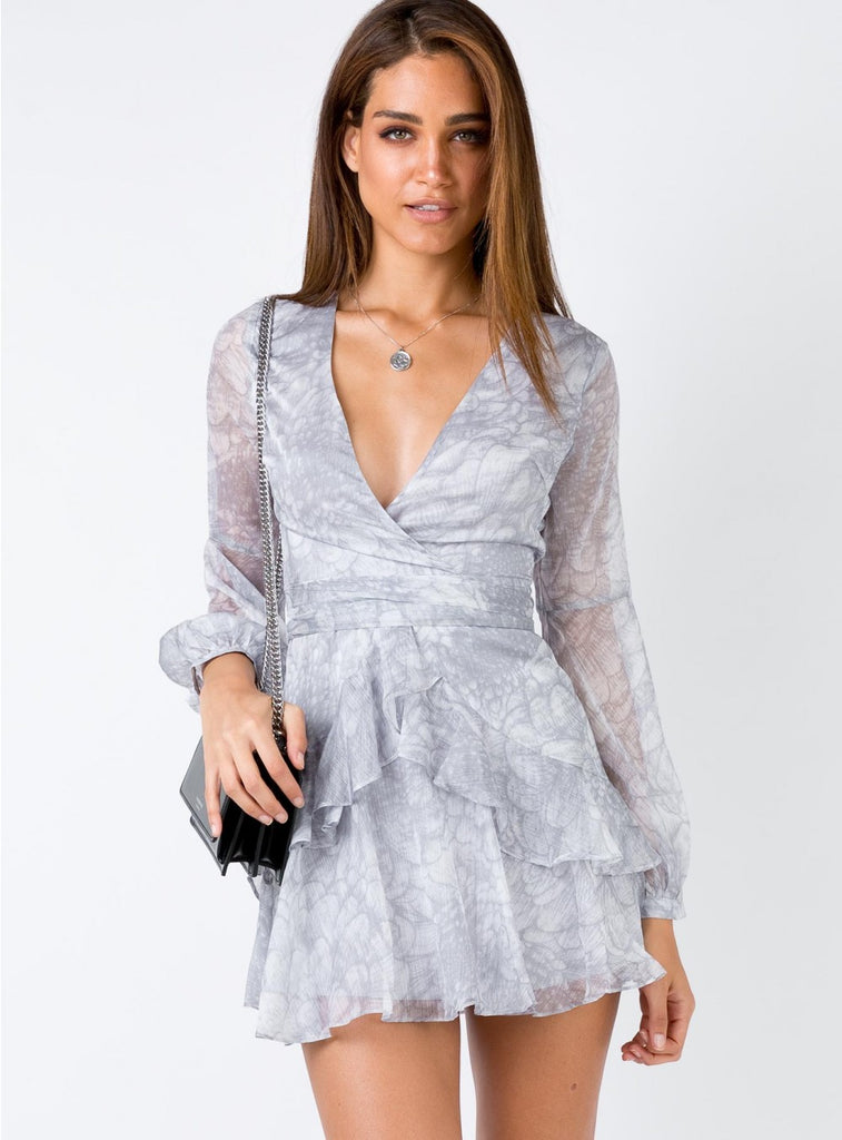 Everly Ruffle Dress - Time Glam