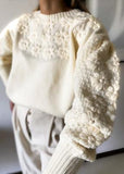 Buttermilk Embroidered Sweater - Cocomely