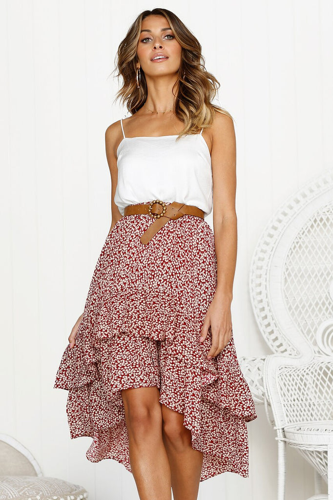 Stacie Midi Skirt - Cocomely