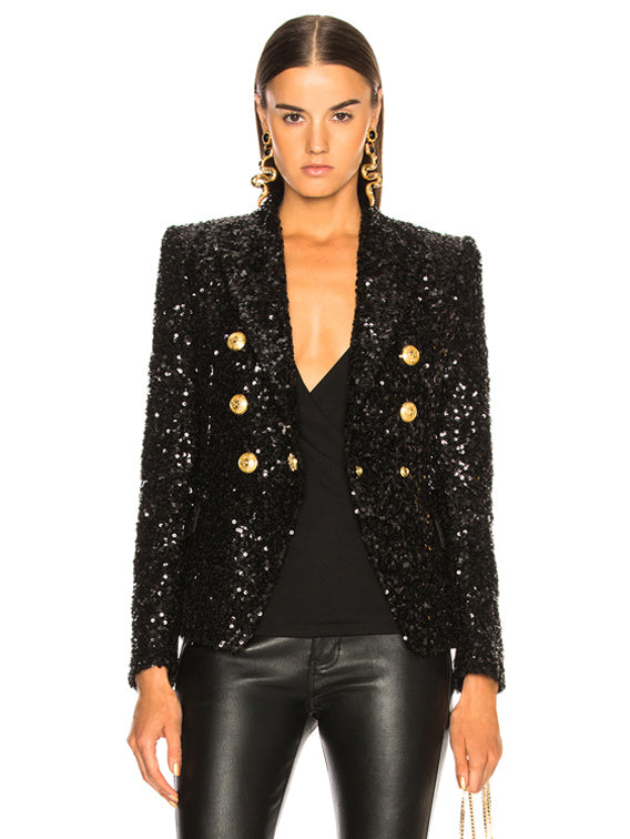 Kennedy Blazer Sequin - Time Glam