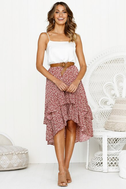 Stacie Midi Skirt - Time Glam