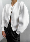 Isla Pearl Cardigan White - Cocomely