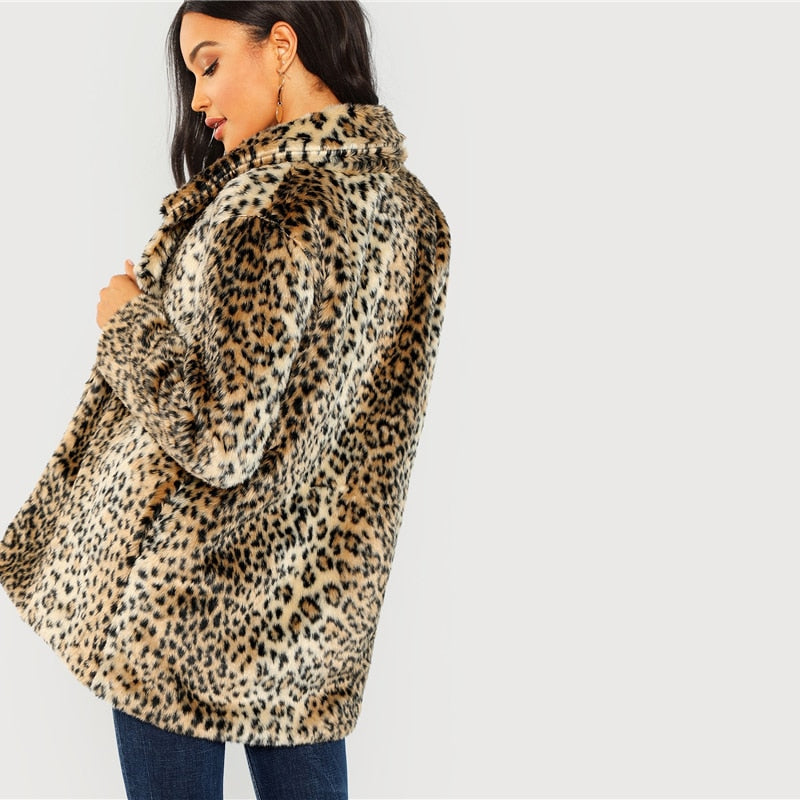 Lauren Leopard Coat - Cocomely