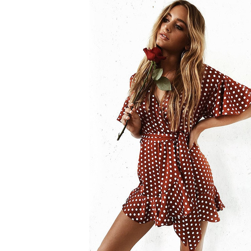 Kenny Polka Dot Dress - Time Glam