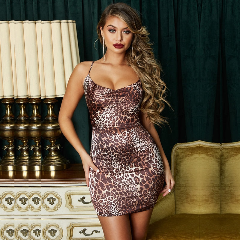 Karamae Satin Mini Dress - Time Glam