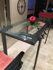 handmade modern industrial table