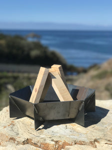 Mini fire pit-Portable Fire Pit- metal fire pit- small fire pit- camping fire pit- outdoor fire pit- wood burning fire pit-