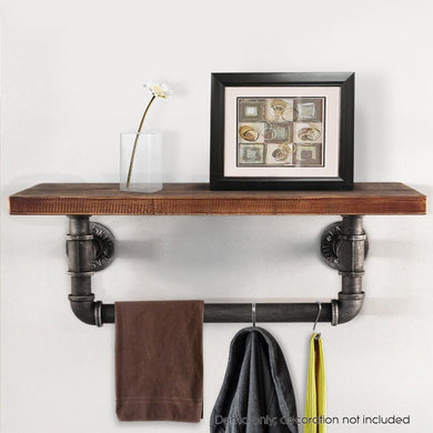 Rustic Industrial Kitchen/ Bathroom Wall Mount Shelf