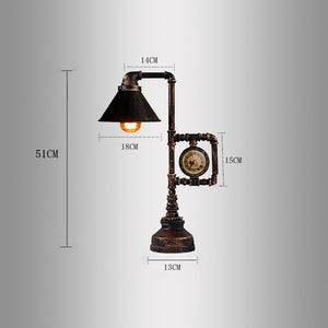 Retro Desk Light With Clock