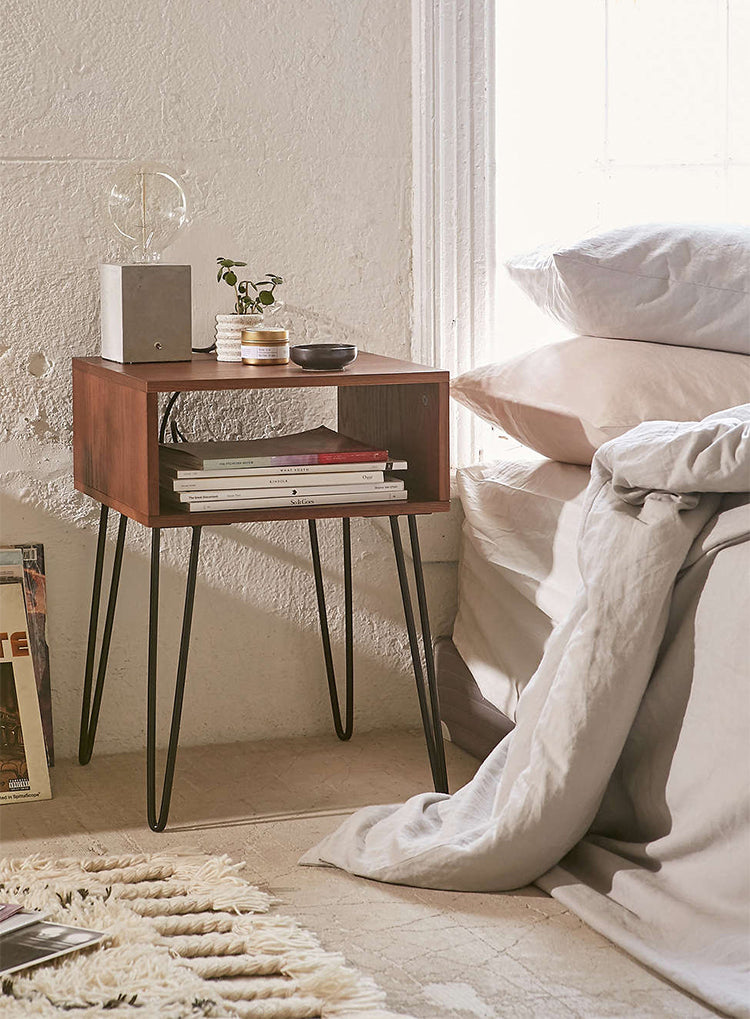 Modern Industrial Open Nightstand