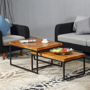 Modern Industrial Nesting Coffee Tables