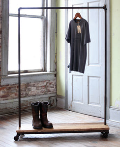Slim Industrial Clothing Rack