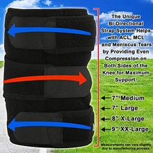 Bidirectional 3 Strap Knee Brace - Available in 4 Sizes - from $21.99 - $27.99