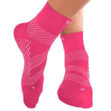 Thin Compression Sock In 3 Sizes -  Pink & White, 1 Pair