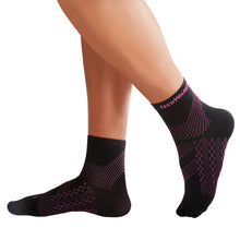TechWare Pro® Compression Sock In 3 Sizes - Black & Pink, 1 Pair