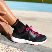 TechWare Pro® Thin Compression Sock In 3 Sizes - Black & Pink, 1 Pair