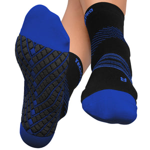 Targeted Compression Sock with Cushioning In 4 Sizes - Black & Blue, 1 Pair