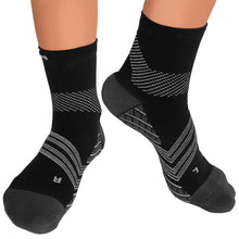 TechWare Pro® Targeted Cushion Compression Sock In 4 Sizes - Black & Gray, 1 Pair