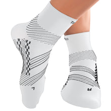 Thin Compression Sock In 4 Sizes - White & Gray, 1 Pair
