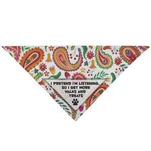 'MORE TREATS' Pet Bandana