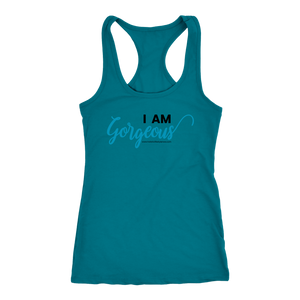 'I AM GORGEOUS' Racerback Tank