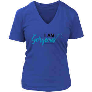 'I AM GORGEOUS' District V-Neck