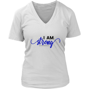 'I Am Strong' District Womens V-Neck
