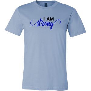 'I Am Strong' Canvas Mens Shirt